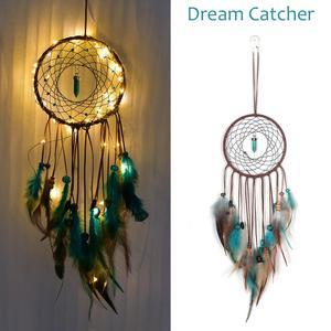 Ловец снов Led Хранитель снов ручной работы перья ночник Ловцы снов настенные украшения для дома комнаты # CO