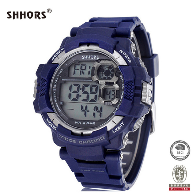 11884a440412 Shhors reloj reloj deportivo 30 m impermeable reloj digital al aire libre  de natación buceo reloj
