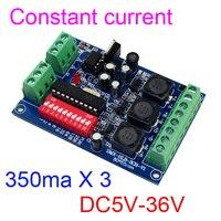 constant current 3 channel 350MA DMX512 RGB controller 3CH DMX512 decoder DC5-36V input each channel 350MA