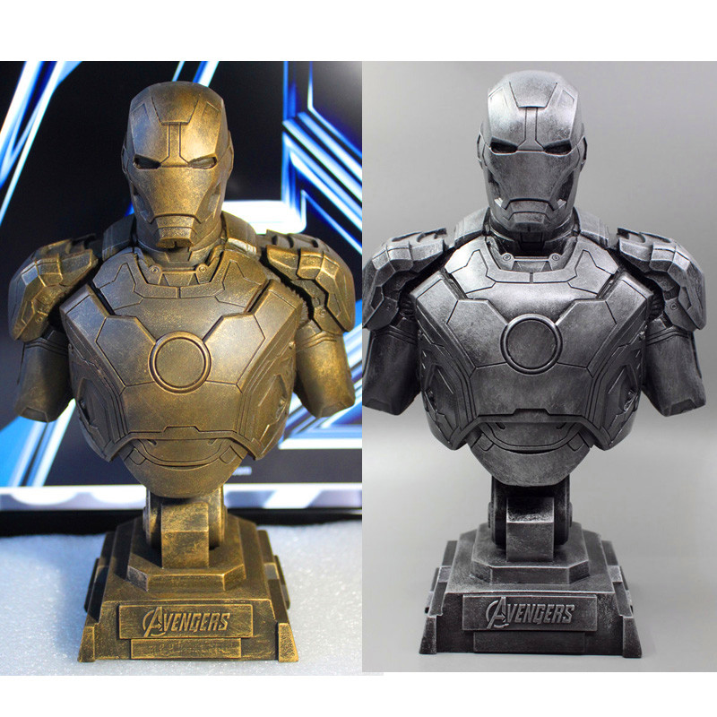 The Avengers Iron Man Alltronic Era Resin 1:4 Bust Model MK43 Statue Half-Length Photo Or Portrait The Collection Gift WU573 avengers captain america 3 civil war black panther 1 2 resin bust model panther statue panther half length photo or portrait