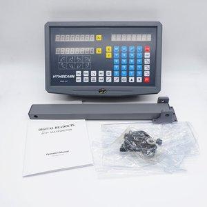 Image 4 - Nueva lectura Digital DRO de 2 ejes de SNS 2V pantalla AC110V/220V y 2 piezas codificador de escala lineal de 0 1000mm para máquina de torno para laminado