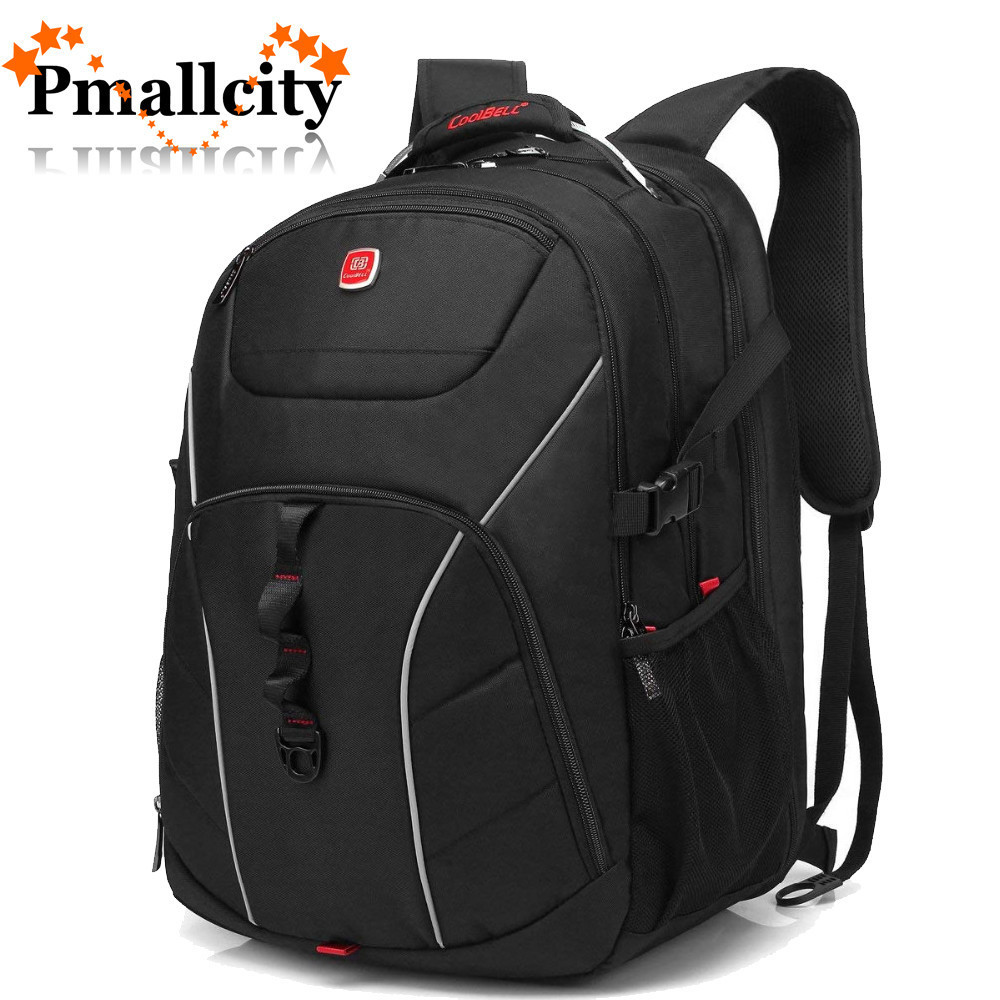 CoolBELL 18.4 Inch Computer Bag With USB Port Water-resistant Rucksack Hiking Knapsack Laptop Backpack Fits 15 - 18.4 inch Bags coolbell 18 4 inch backpack laptop bag travel rucksack waterproof hiking knapsack protective day pack for men women