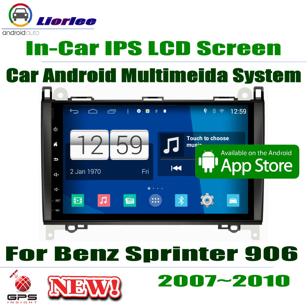 9 HD 1080P IPS LCD Screen Android 8 Core For Mercedes Benz Sprinter 906 2007~2010 Car Radio 3G/4G AUX USB GPS Navi Multimedia