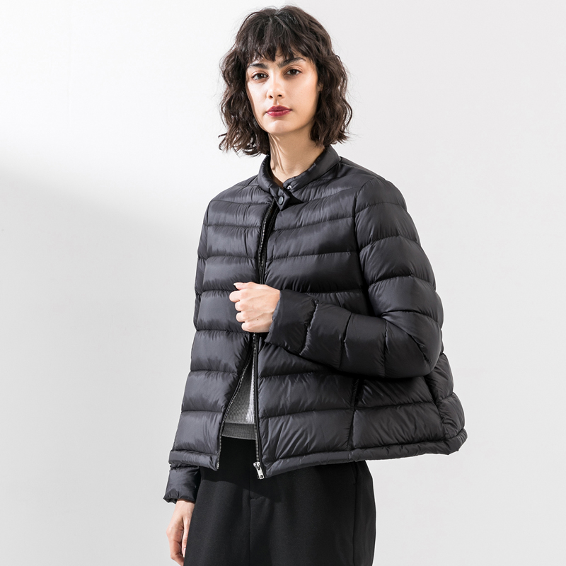 Women's Winter White Duck   Down   Jacket 2019 Fashion Short Cloak Type   Down   Jacket Women Ultralight Portable Warm Winter   Down     Coats