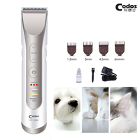 Codos Professional Rechargeable Pet Cat Dog Hair Trimmer for Face Ears Foot Local Trimming Electric Pet Clipper Grooming Machine