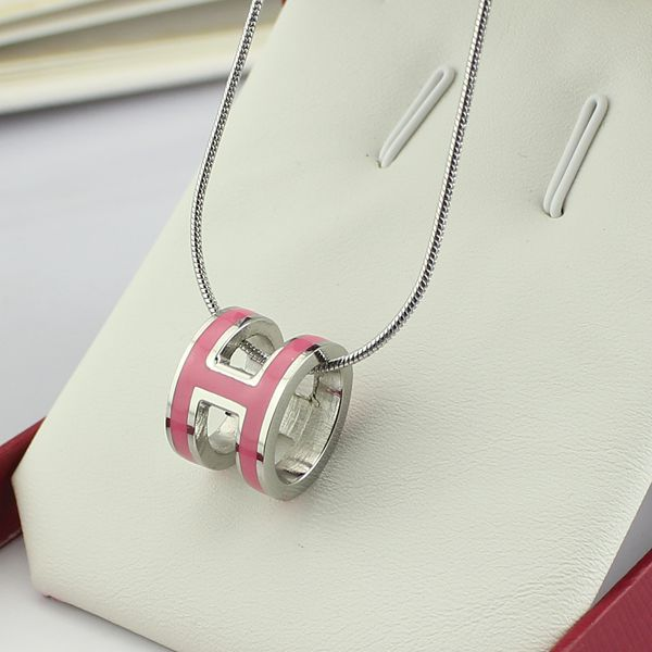 high quality 316 stainless steel h letter pendant necklace for women (10)