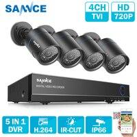SANNCE HD 4CH 1080N 720 P системы видеонаблюдения HDMI AHD DVR 4 шт. 1200TVL ИК Открытый ночного видения камеры безопасности комплект видеонаблюдения
