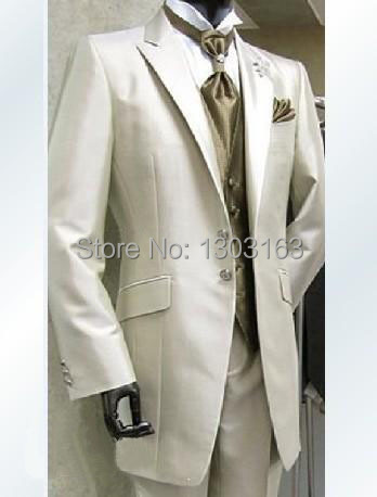 2016 Custom design Real picture Groom Tuxedos Groomsmen Best Man Suit Men Wedding Suits Bridegroom Suit (Jacket+Pants+Vest+Tie)