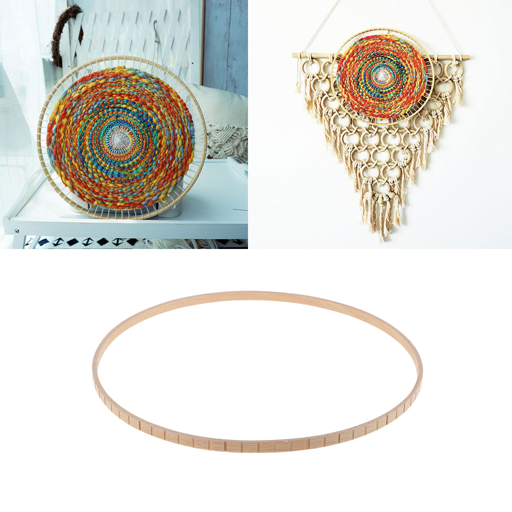 Children Kids Wood Round Weaving Knitting Loom Tool For DIY Tapestry Wall Hangings Home Ornament Craft Toys