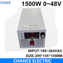 LED Driver AC Input 220V to DC 1500W 0~48V 31.2A adjustable output Switching power supply Transformer for LED Strip light