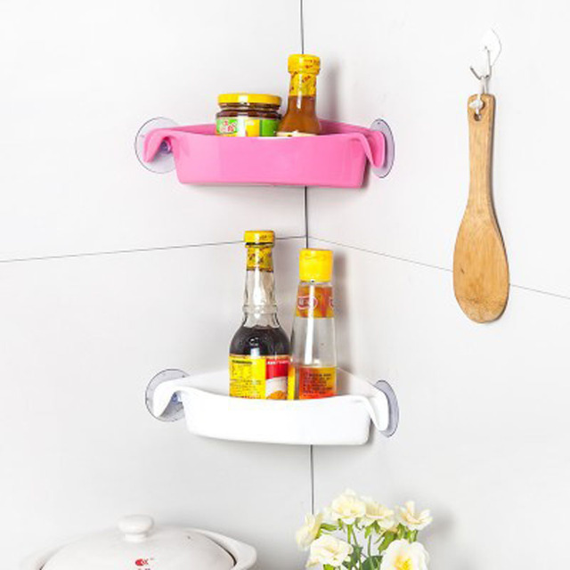Home With Good Helper Multi Purpose Bathroom With Strong Suction Cups Shelf  Toilet Corner Storage Shelf