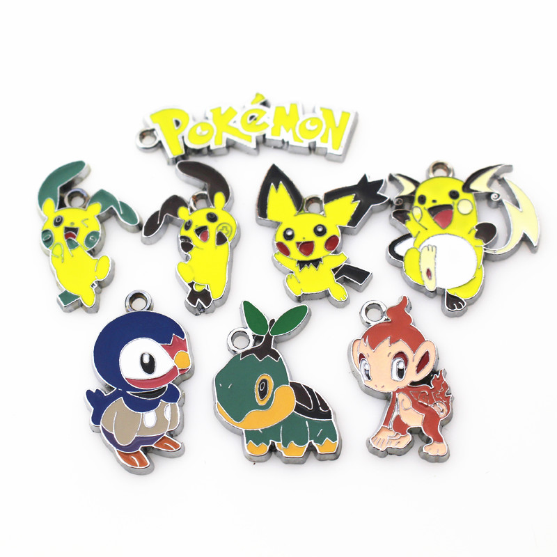 MIX 50pcslot Pokemon GO animals dangle charms hanging charms bracelet&bangles floating charms DIY jewelry accessories