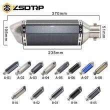 ZSDTRP العالمي للدراجات النارية الترابية دراجة العادم الهروب تعديل سكوتر AK العادم دثر يصلح لمعظم دراجة نارية ATV
