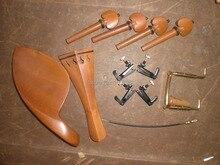 5 Sätze Jujube Violine teile 02 #4/4 mit Feinen tuner und schwanz gut & kinnhalter klemm
