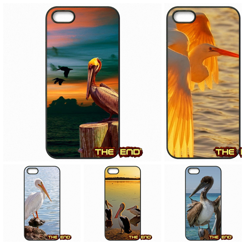 Brown Pelican Eating a Small Fish Mobile Phone Case Cover For Apple iPhone 4 4S 5 5C SE 6 6S Plus 4.7 5.5 iPod Touch 4 5 6