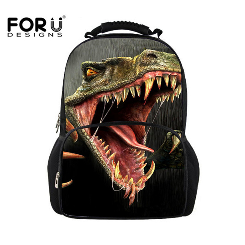 Dinosaur Children Backpack Womens Leopard Backbag,3D Zoo Animal Cool Backpack Mens Travel Backbag College Students School Bags