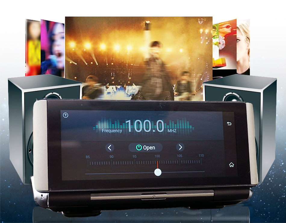 "6.86"" inch 4G ADAS Car DVR Dash Cam Mirror GPS Bluetooth WIFI Android 5.0 Dual Lens FHD 1080p Video Recorder Camera 7"