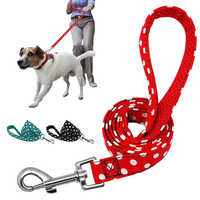 Correa para perro caminante para perros medianos pequeños gatos lunares entrenamiento para cachorros correas para correr correa de cuerda al aire libre 1,2 m