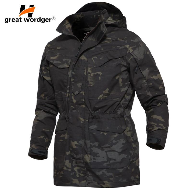 M65 US Army Clothes Outdoor Tactical Windbreaker Men Winter Autumn Waterproof Flight Pilot Coat Hoodie Military