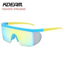 2019 NEW Sport Goggle Men and Women Oversize Party Sunglasses Windproof eyewear flat top Square Sun glasses UV400 KDEAM