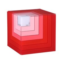 Rubik's Cube Portable Mini Bluetooth Speaker LED Stereo Sound Box Mp3 Player Subwoofer Speakers Built-in Battery for Iphone PC