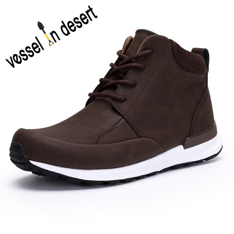 Vessel In Desert Man's Waterproof Boot Outdoor Walking Athletic Boots Man climbing Sneakers Free Shipping