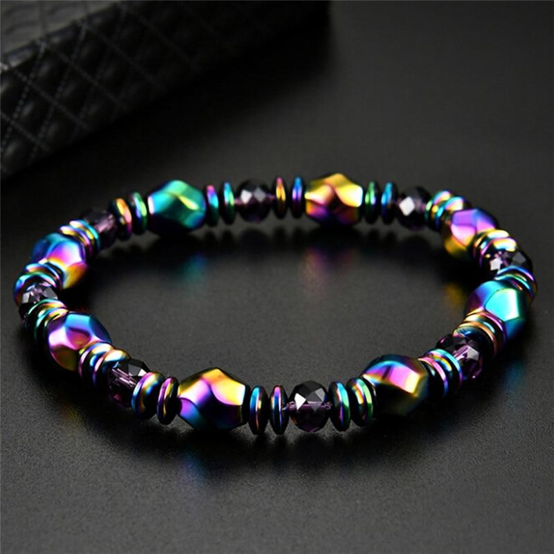 Magnetite Malachite Crystal Healing Bangle Magnetic Hematite Health slimming Bracelet For Women Slimming Product