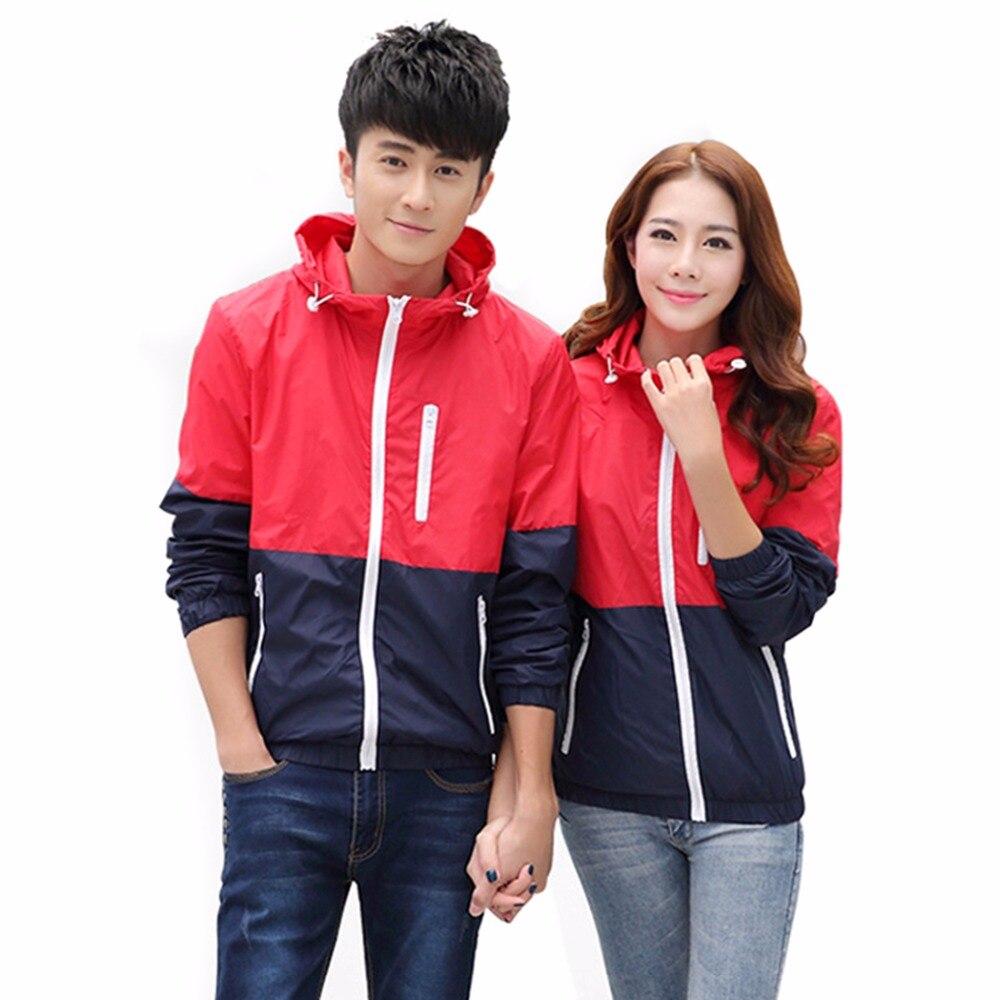 2018 Casual Men Women Hoodies Fashion Long Sleeve Spliced Zipper Hooded Sweatshirt Casual Couple Tracksuit Pullover Sudaderas