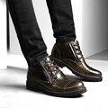 Мужчины Сапоги Мужчины Натуральная Кожа Ботильоны Для Мужчин Зимней Обуви 2016 Zapatos Hombre