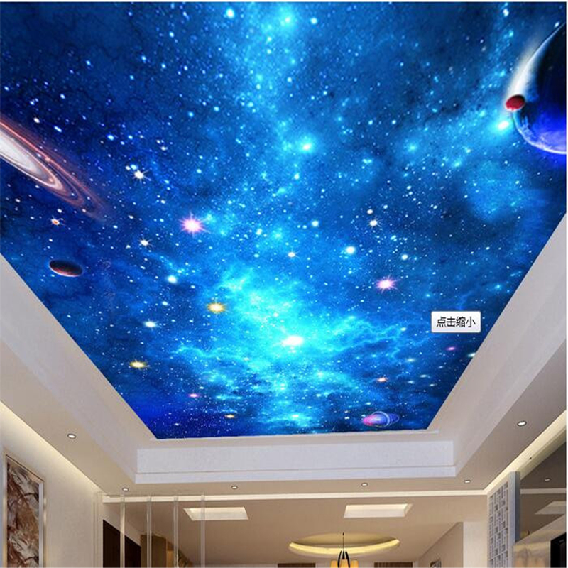 Beibehang custom mural wallpaper 3d dream sky ceiling for Ceiling mural wallpaper