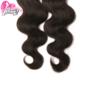 Image 5 - Beauty Forever Body Wave Indian Hair Weft Remy Human Hair Weave Bundles Natural Color 8 30 inch Free Shipping