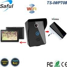 WiFi Wireless Video Door Phone intercom Doorbell Android IOS Smart Home PIR IR Night Vision Alarm camera 2 tablets 1v2