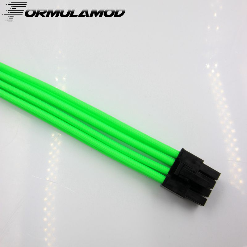 FormulaMod PCI 8Pin Motherboard Power Extension Cable 18AWG 8Pin Extension Cable for water cooling computer FMPCI8P-B high quality atx 24pin motherboard power extension cable 30cm four colors for your choice 18awg 24pin extension cable