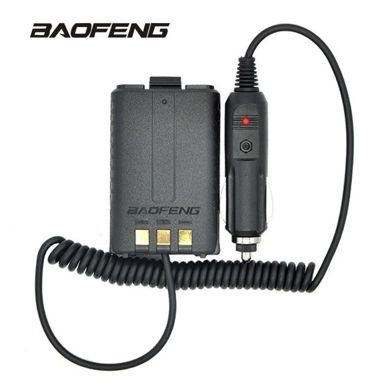 Baofeng batería Eliminator cargador de coche para portátil Radios uv-5r uv-5re uv-5ra dos vías Radios Walkie-talkies Accesorios