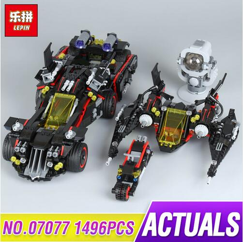 Lepin 07077 1496Pcs Genuine Batman Movie Series The Ultimate Batmobile Set Educational Building Blocks Bricks Toys Model 70917 07077 1496pcs batman movie series the ultimate batmobile set diy toys educational building blocks compatible with 70917 lepin