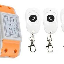AC220V 1CH Беспроводной дистанционного Управление переключатель Системы приемника и 3 шт. нажатием одной кнопки водонепроницаемый удаленный для гаражной двери оконная лампа