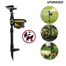 UPGRADED Solar powered Motion Activated Animal Repeller Garden Sprinkler Scarecrow,Animal Deterrent