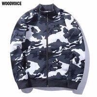 Woodvoice Marka ABD/Euro Boyutu Erkekler Şık Hoodies 2017 Yeni Varış Kamuflaj Tasarım Pamuk Malzeme Erkek Fermuar Sweatershirts 15