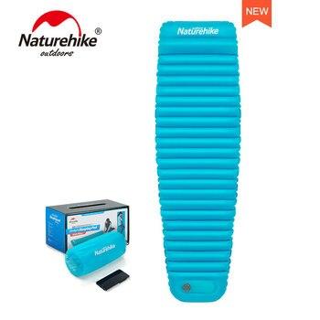Naturehike Outdoor Push Inflatable Camping Mat Tent Outdoor Waterproof Sleeping Pad Picnic Folding Mummy Mattress NH18Q002-D