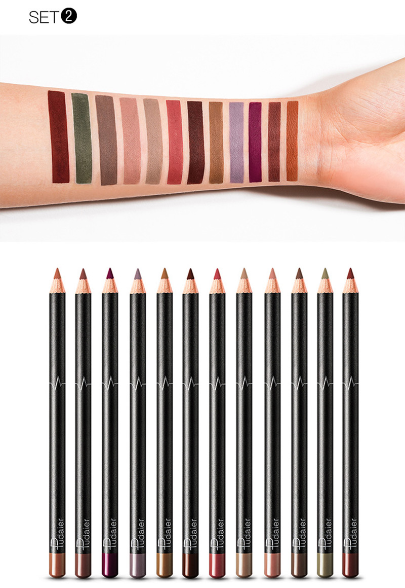 Brand μολύβι περιγράμματος χειλιών ματ μεγάλης διάρκειας απαλή μύτη μολύβι μακιγιάζ msow