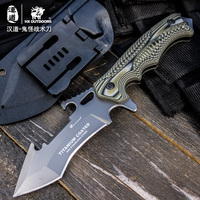HX OUTDOORS Cool straight fixed Knife Camping Survival Knife hunting Blade outdoor Knife, color Handle Beautiful gear Knife tool