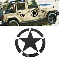 MOPAI 19 19 CM Black White Creative Car Sticker Car 5 Stars Whole Body Decal Stickers
