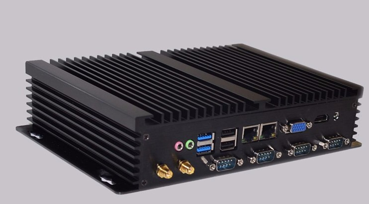 Promotion ordinateur industriel Intel Core i7 3537u Mini PC Windows 10 TV Box HDMI VGA double LAN 4 RS232 8 USB Widnows XP PC robuste