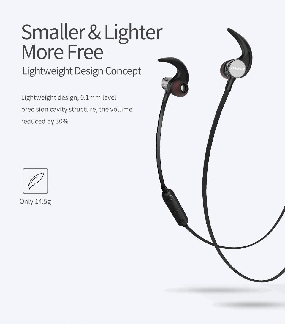 Awei® T12 Elegant Bluetooth Headset Wireless Earphone