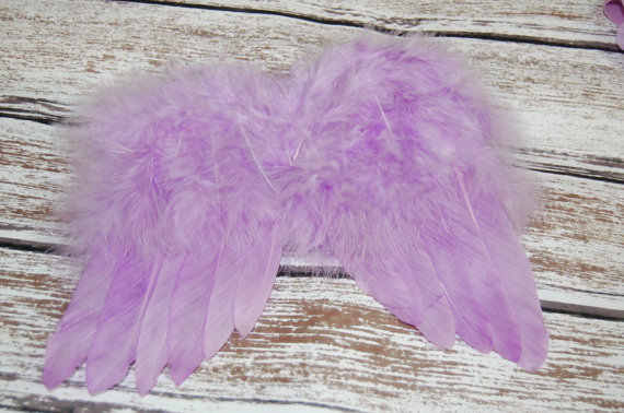 GADIS Feather Angel Wing Couture Pembaptisan Sedikit Fairytale Kostum Photo Prop