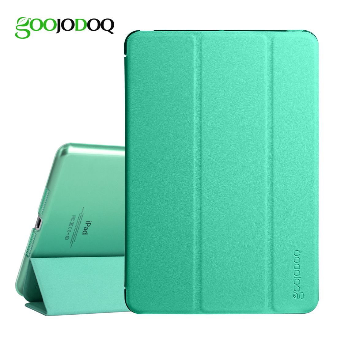 For Apple iPad Mini 4 Case,GOOJODOQ Slim PU Leather + Translucent PC Hard Back Smart Cover Case Shell for iPad Mini 4 Coque for ipad mini4 cover high quality soft tpu rubber back case for ipad mini 4 silicone back cover semi transparent case shell skin
