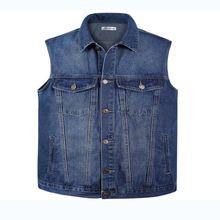 Men Denim Vest Spring and Summer Autumn Cowboy Sleeveless Male Waistcoat Short Style Mens Vests Outerwear Designer  vest