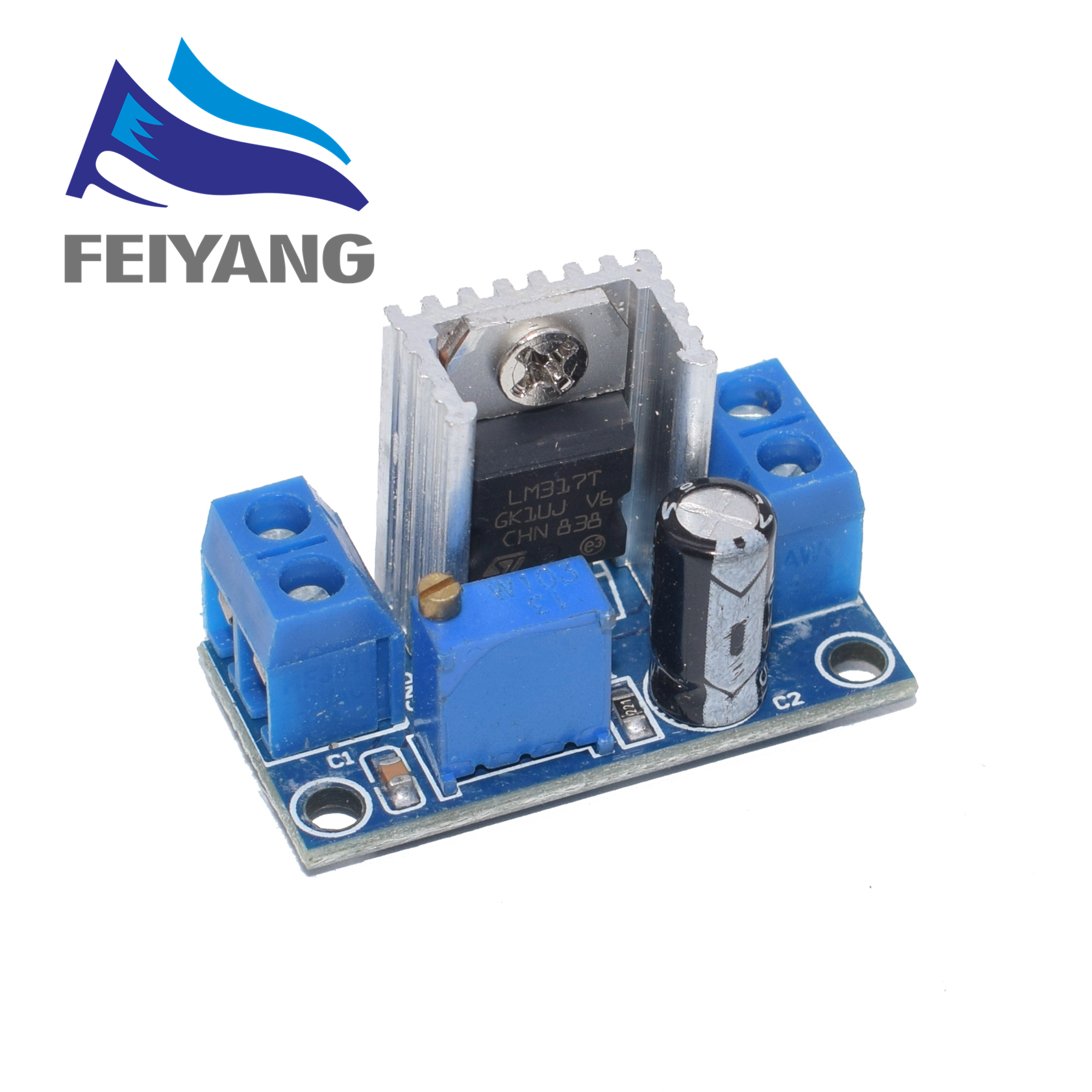 100PCS LM317 Adjustable Voltage Regulator Power Supply DC DC Converter Buck Step Down Circuit Board Module Linear Regulator-in Integrated Circuits from Electronic Components & Supplies