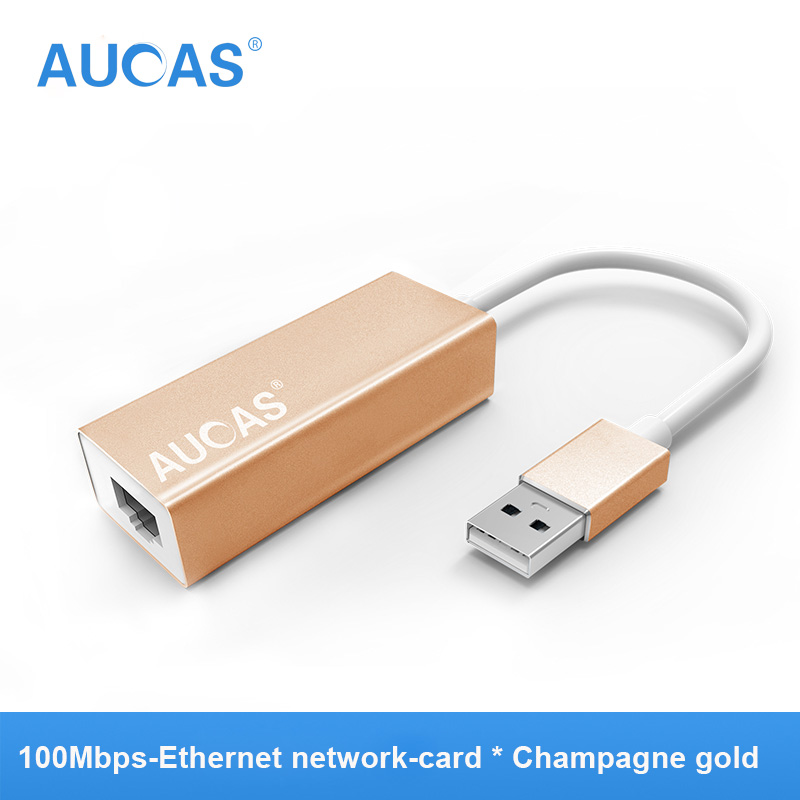 AUCAS 100mbps Ethernet Network Adapter RJ45 to USB network card Switch Ethernet USB Adapter