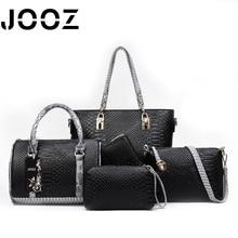 JOOZ Brand Luxury Serpentine Lady Handbag 5 Pcs Composite Bags Set Women Shoulder Crossbody Messenger Bag